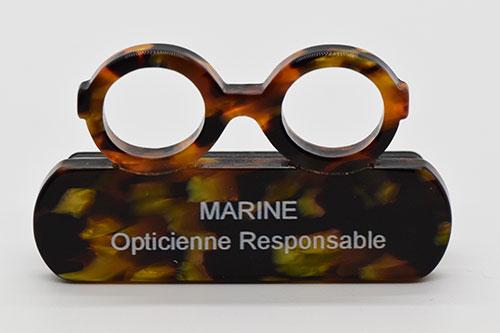 Marine opticienne responsable fait partie de cette équipe.